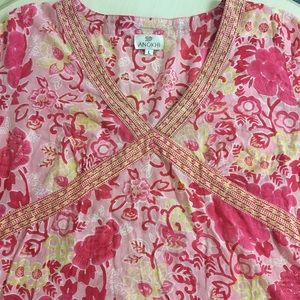 Tops - Floral Indian tunic